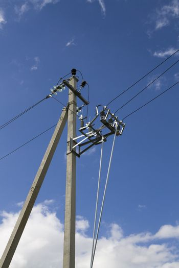 Electric power cables overhead