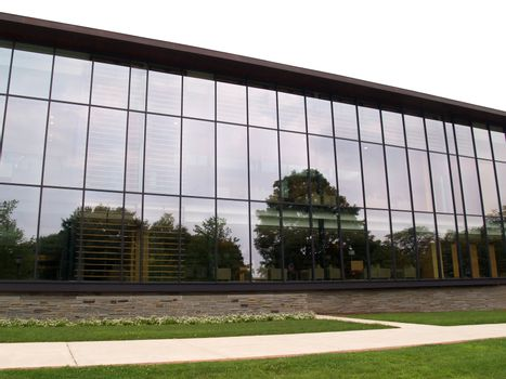 modern building with many glass windows