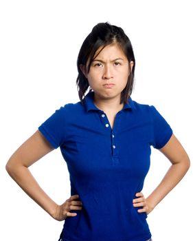 Grumpy chinese girl