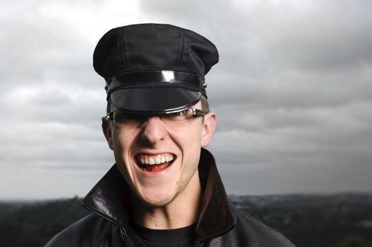Happy officer