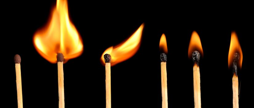 Stages of fire