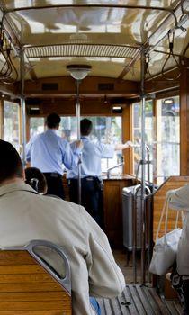 inside old tram