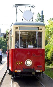 old tramcar front