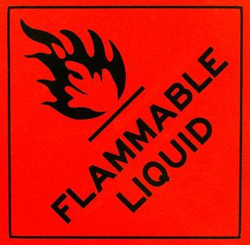 Flammable liquid warning sign