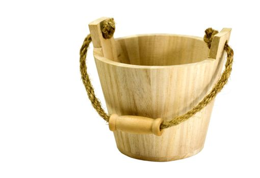 small wooden busket