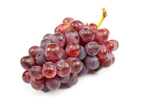 Cluster of ripe grapes