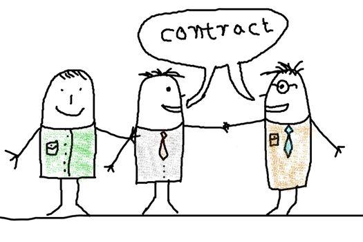 handshake and business man