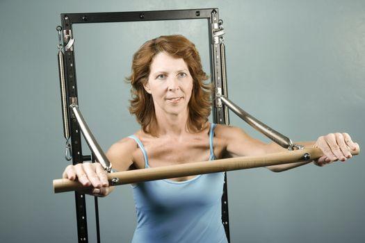 Woman doing a strength workout