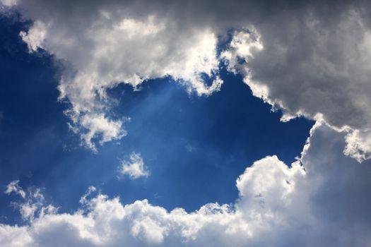 cloudscape in heaven