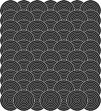 Seamless repeat background design in black and white