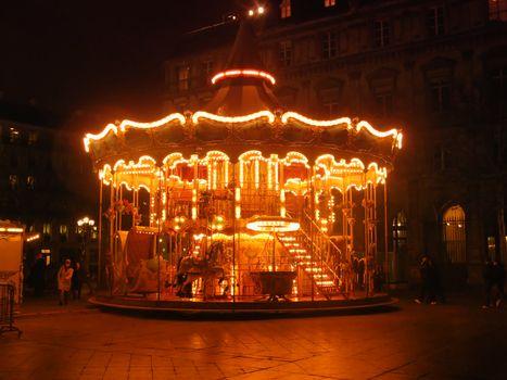 Merry-go-round in the night