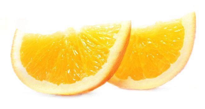 Beautiful orange on white background