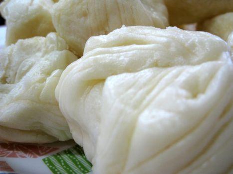 close up for a bun, asian food