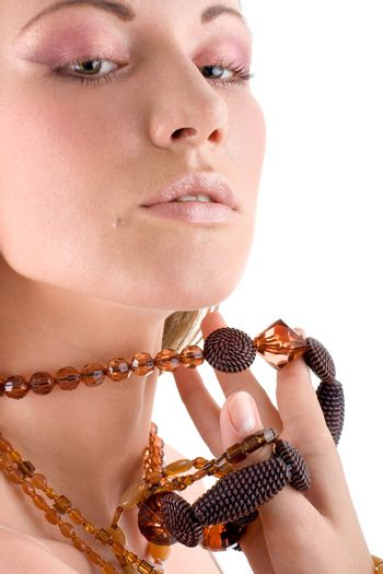 Attractive woman with jewellery