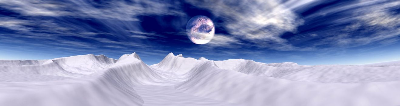 3D rendered fantasy Panorama.