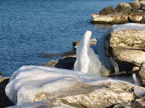 Icy rocks