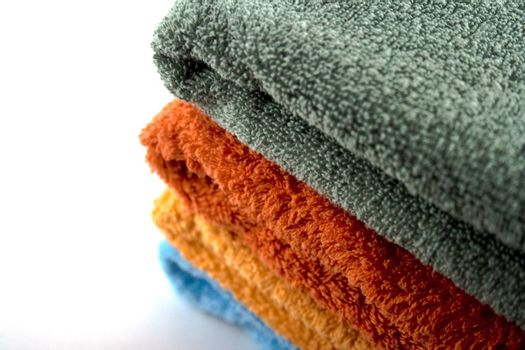 stack of coloured towels