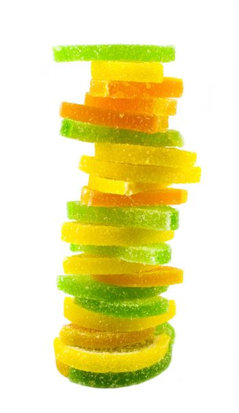 fruit candy pyramide