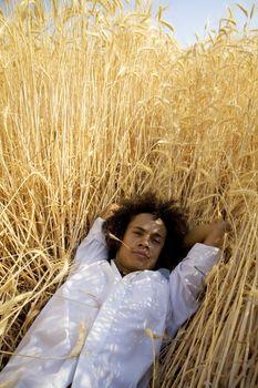 guy in a cornfield