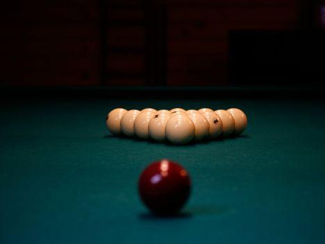 A pool balls
