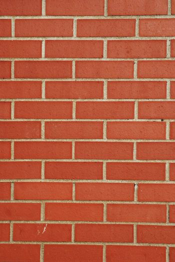 background of red brick wall and wooden shutter