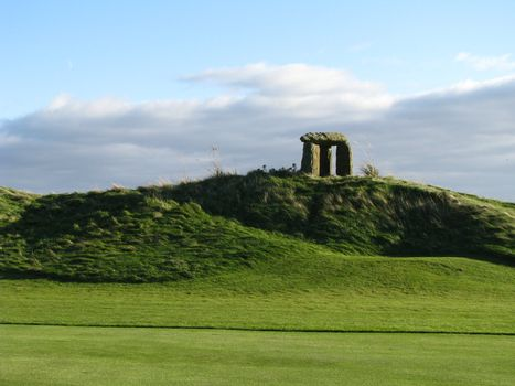 Stonehenge on berm at Old Head in Ireland