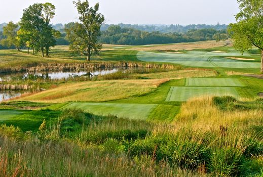 Beautifully manicured golf course