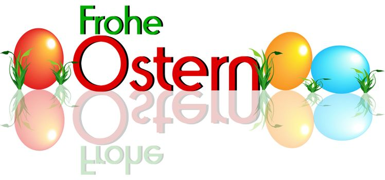 German Happy Easter - Frohe Ostern