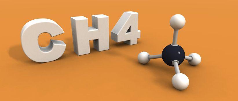 methane molecule