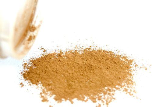 powder from jar
