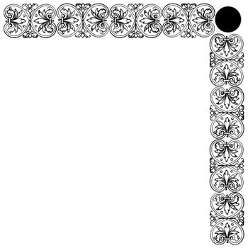 Greek ornament, decorative border on white