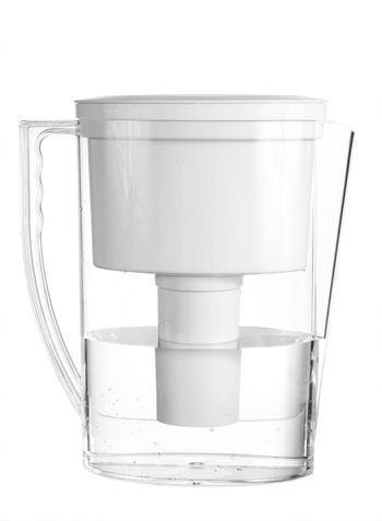 An isolated water pitcher on a white background.