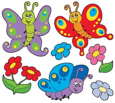 Various cute butterflies