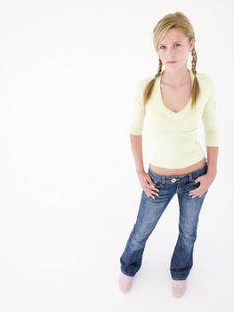 Teenage girl looking at camera