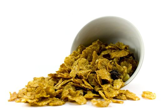 cornflakes from bowl