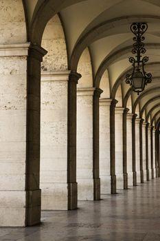 Colonnade in Lisbon.