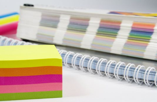 colorful notes and color guide