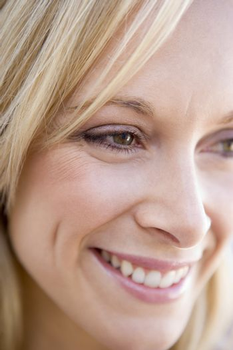 Head shot of woman smiling