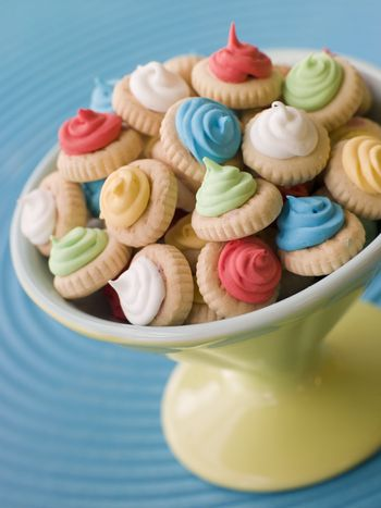 Dish of Iced Gem Biscuits