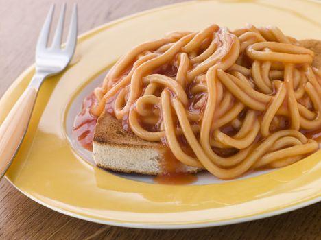 Spaghetti on Toast