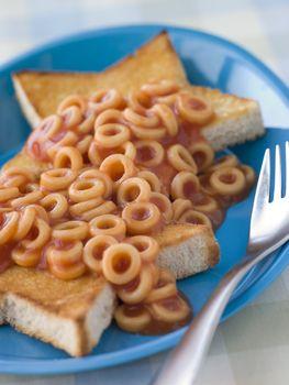 Spaghetti Hoops on Star Shaped Toast