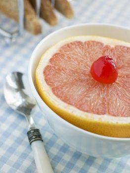 Half a Pink Grapefruit