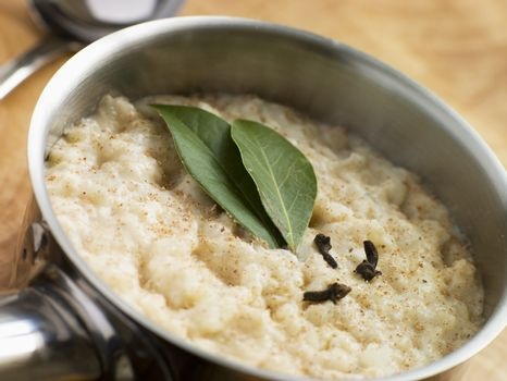 Bread sauce in a Pan