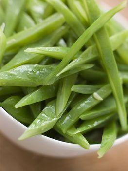 Bowl of Green Runner Beans