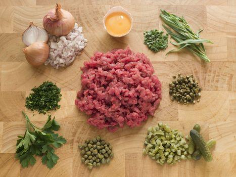 Ingredients for Steak Tartare