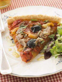 Slice of Provencale Tart with Dressed salad