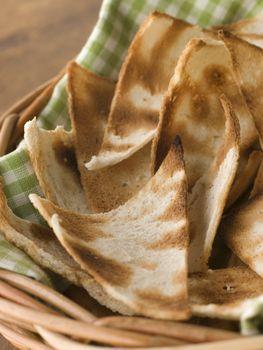 Basket of Melba Toast