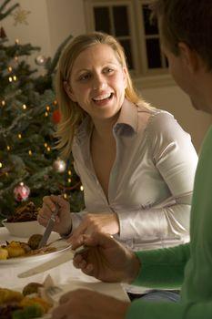 Eating Christmas Roast