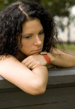 unhappy pretty woman