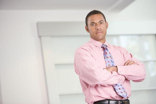Businessman standing indoors